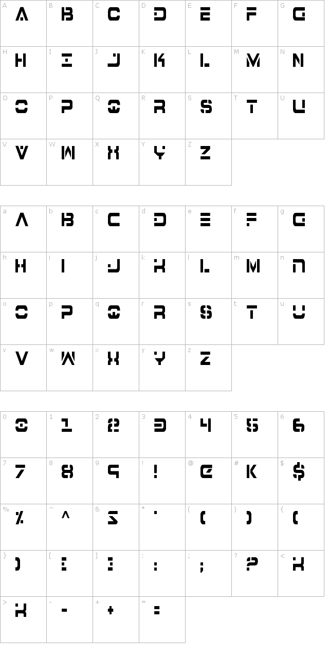 7th Service Condensed Font