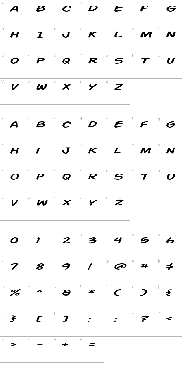 Action Man Extended Italic Font
