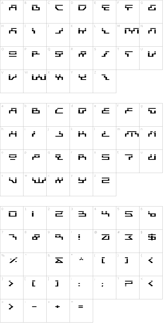 Beam Rider Expanded Laser Font