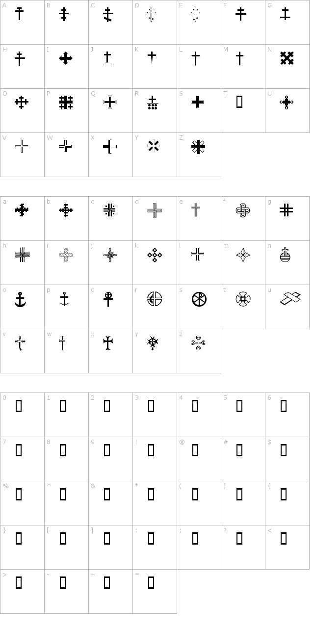 Christian Crosses III Font