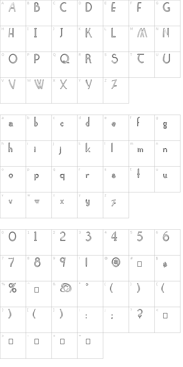 Claritty Outline Font