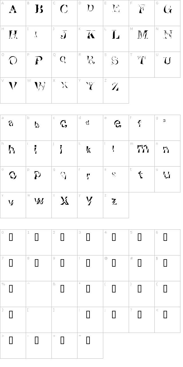 Cutted Font