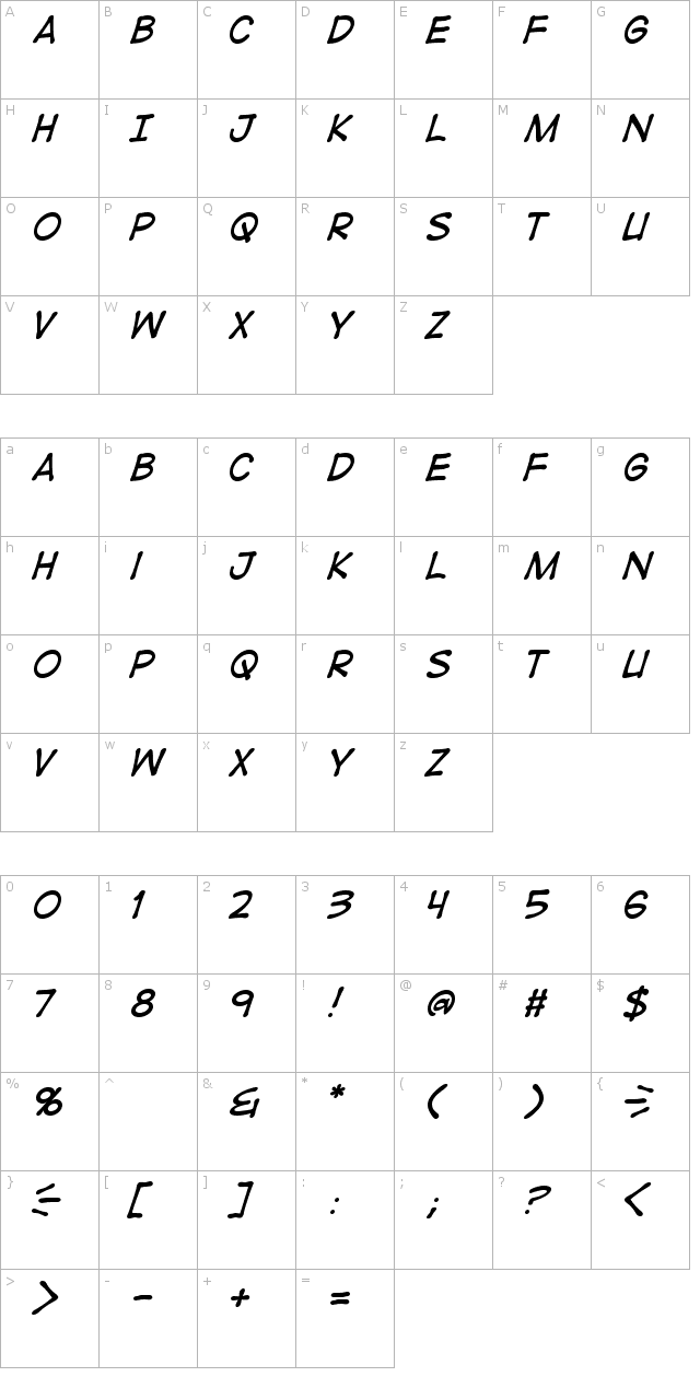Digital Strip Italic Font