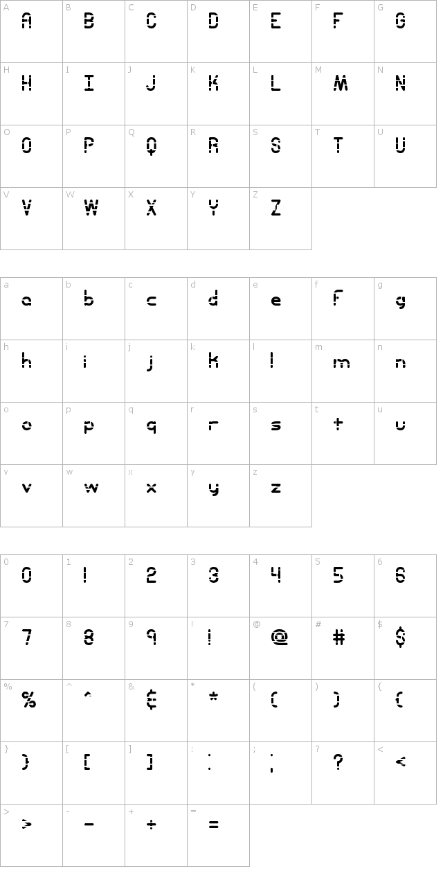 Entangled Layer A (BRK) Font