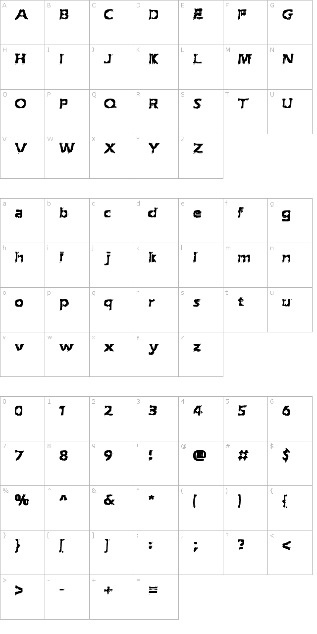 Extraction (BRK) Font