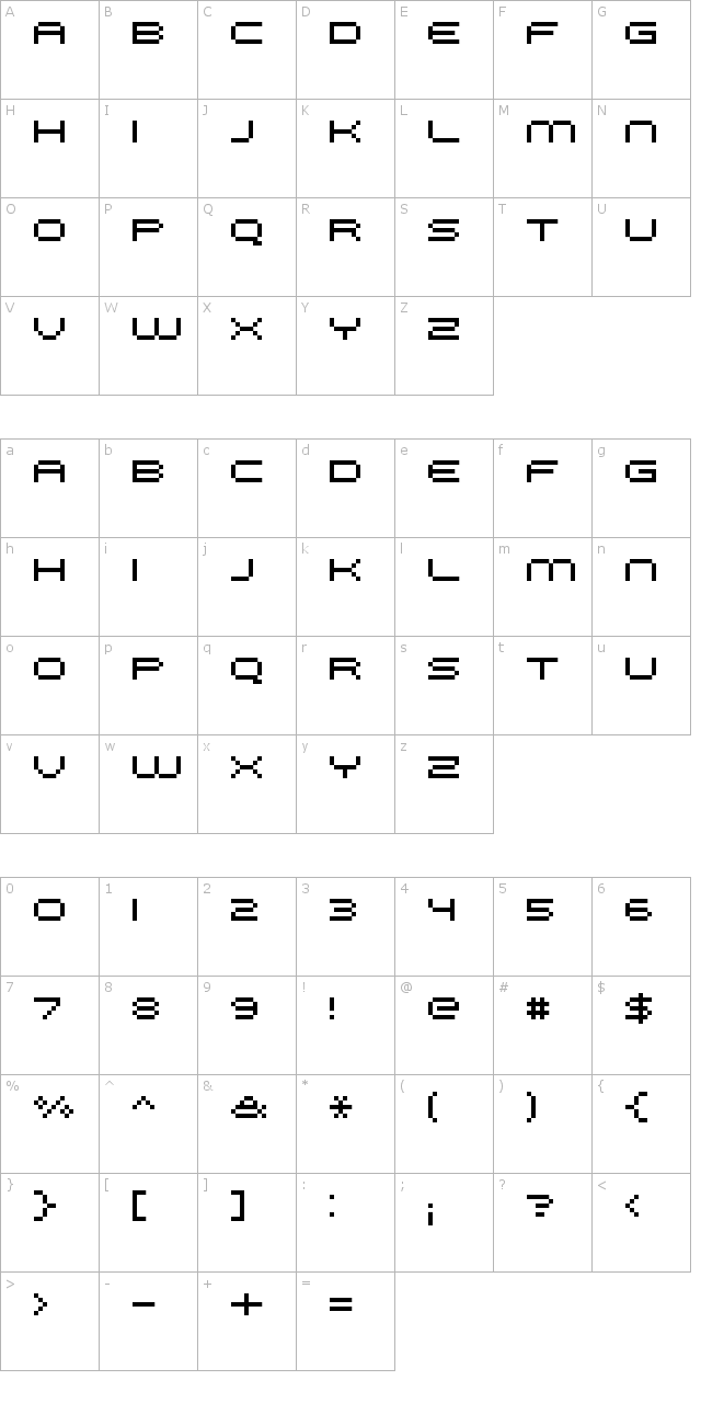 FFF Galaxy Extended Font