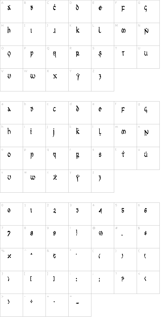 First Order Condensed Font