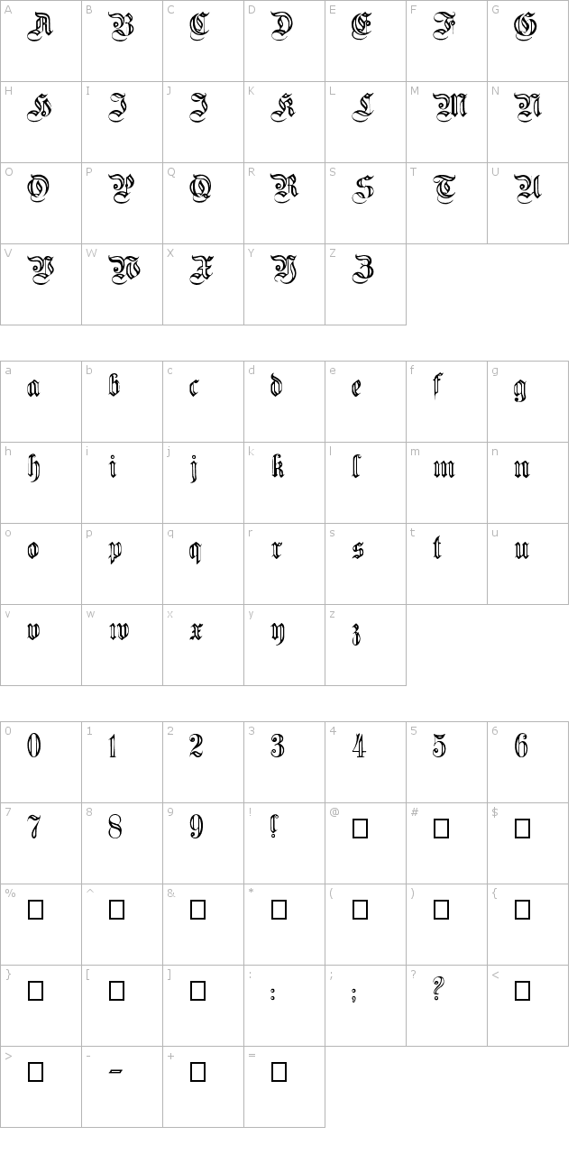 Fluted Germanica Font