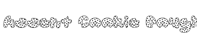 Accent Cookie Dough Font