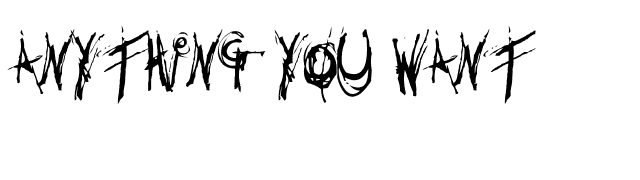 Anything you want Font