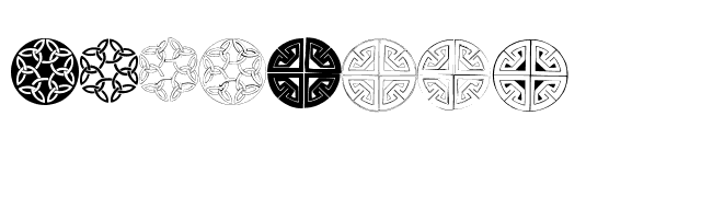 Celtic Circledings Font