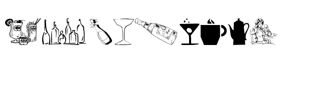 Drinks Various Font
