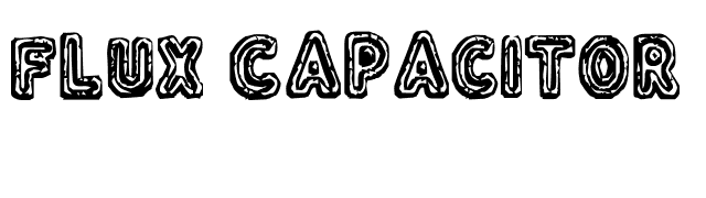 Flux Capacitor Font