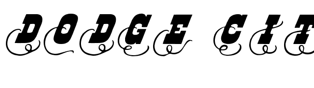 Dodge+City+Initials Font