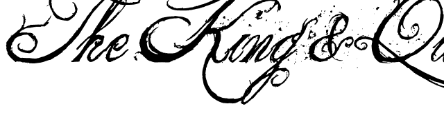The+King+&+Queen Font
